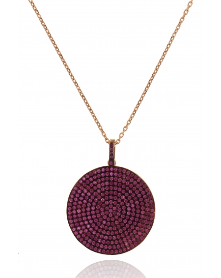 Long Multicolor Round CZ Necklace