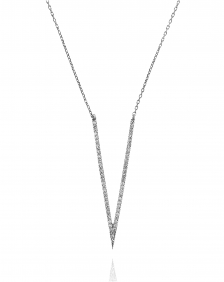 V Silver Necklace
