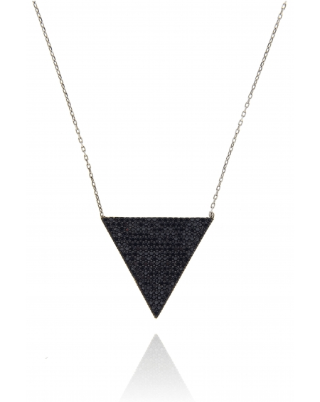 Multicolor White Triangle Necklace