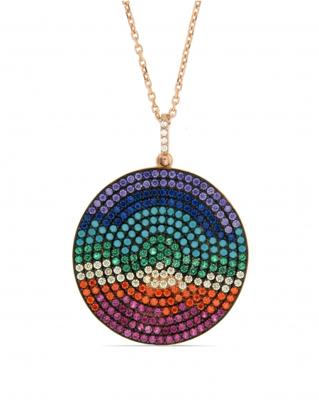 Disc Rainbow Necklace
