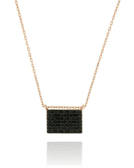 Mini Square CZ Necklace