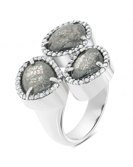 Sterling Silver Three Stone Ring