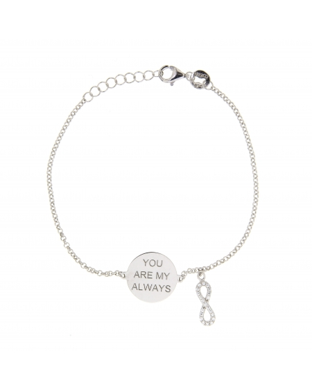 Sterling Silver My Always Infinity Bracelet