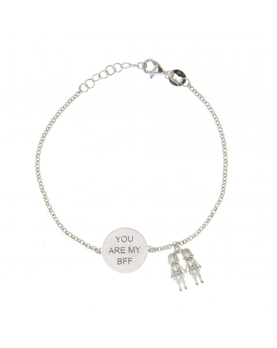 Sterling Silver BFF Best Friend Bracelet