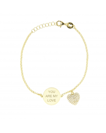 Sterling Silver My Love Heart Bracelet