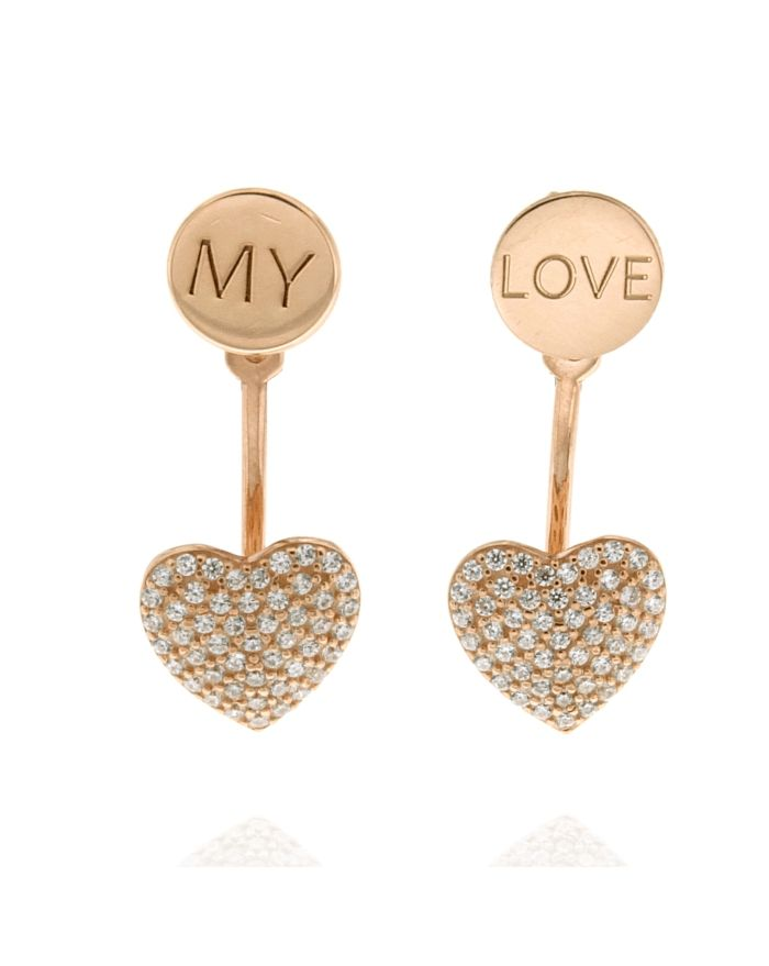 heart jyer earrings paws forever