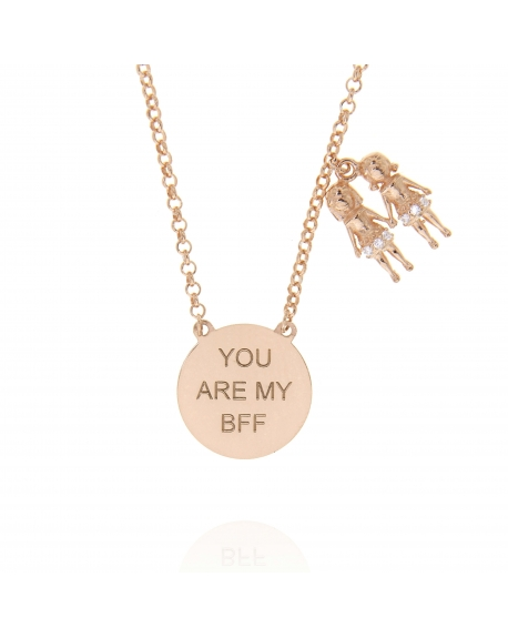 Sterling Silver You are my BFF Necklace
