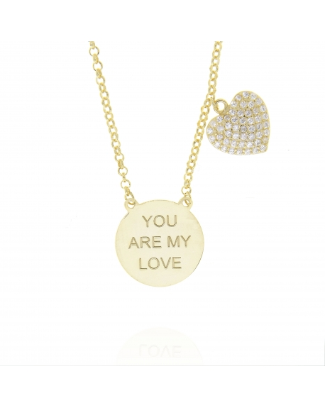 Sterling Silver You are my Love Heart Necklace