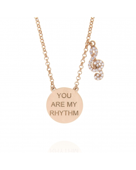 Sterling Silver You are my Rhythm Musicnote Necklace