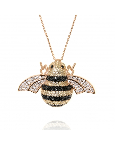 Sterling Silver Busy Bee Necklace