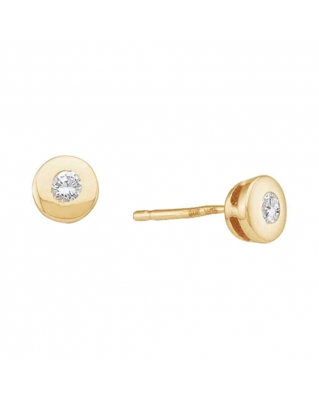 Diamond Solitaire Stud Earrings in 14k Yellow Gold (.10ct)