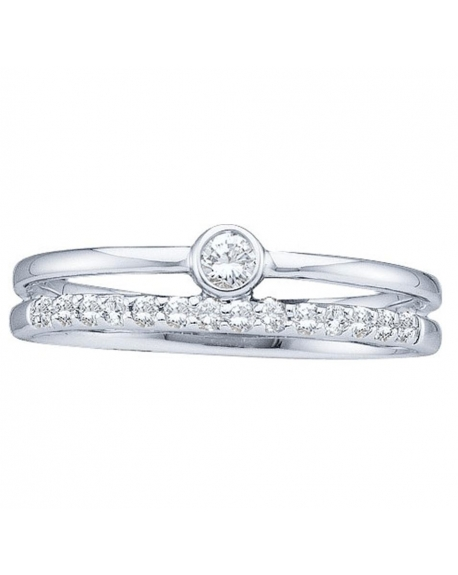 Solitaire Engagement Ring in 14kt White Gold (.20ct)