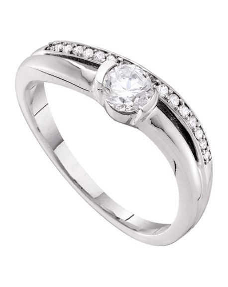Solitaire Engagement Ring in 14kt White Gold (.37ct)