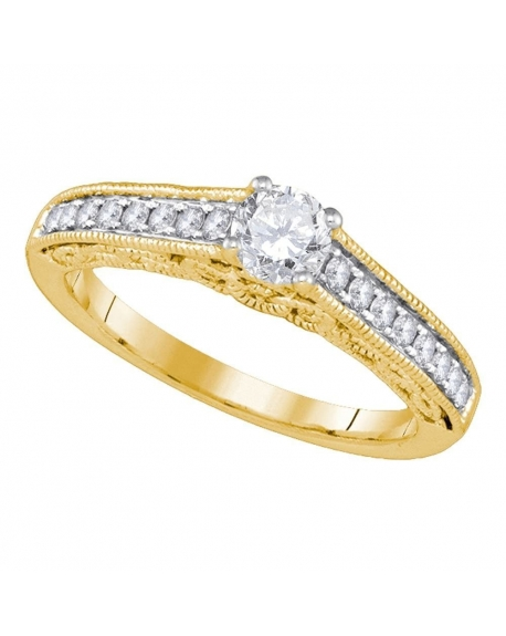Solitaire Engagement Ring in 14kt Yellow Gold (.63ct)
