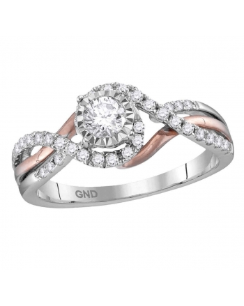 Solitaire Engagement Ring in 14kt White Gold (.50ct)