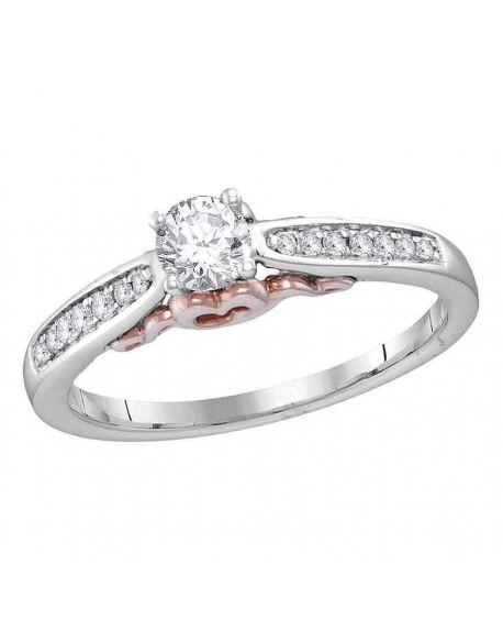 Solitaire Engagement Ring in 14kt White Gold (.33ct)