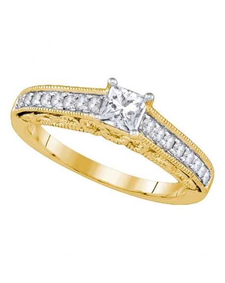 Solitaire Diamond Engagement Ring in 14kt Yellow Gold (.62ct)