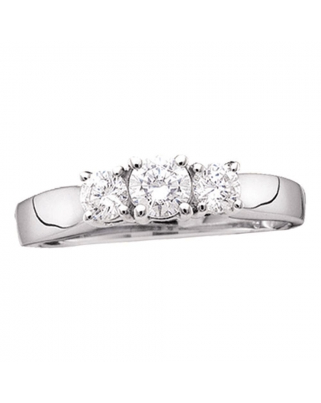 3-stone Diamond Engagement Ring in 14kt Gold (.75ct)