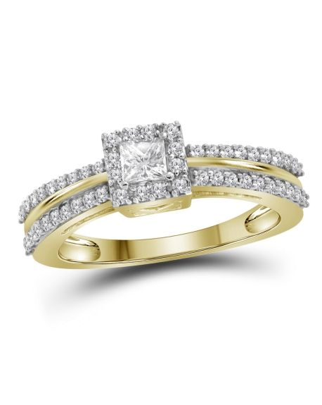 Princess Diamond Engagement Ring in 14kt Yellow Gold (.50ct)