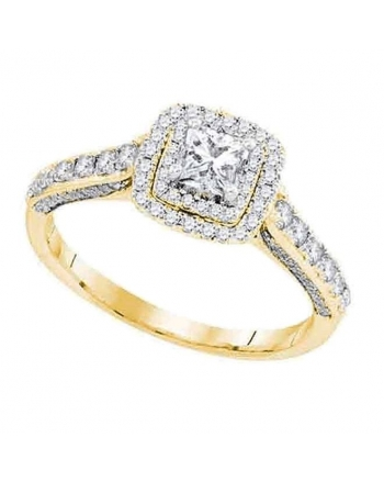 Princess Diamond Engagement Ring in 14kt Yellow Gold (1.00ct)