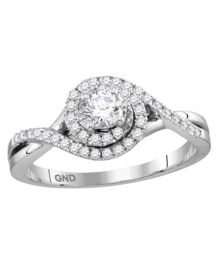 Princess Solitaire Engagement Ring in 14kt White Gold (.50ct)