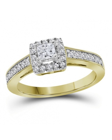 Princess Solitaire Engagement Ring in 14kt Yellow Gold (.50ct)