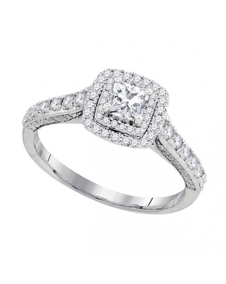 Princess Solitaire Engagement Ring in 14kt White Gold (1.00ct)