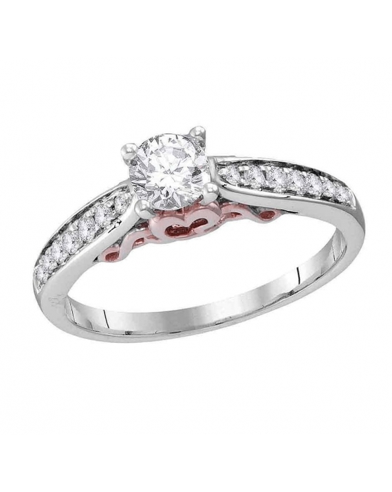 Diamond Solitaire Engagement Ring in 14kt White Gold (.62ct)