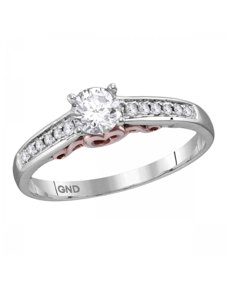 Diamond Solitaire Engagement Ring in 14kt White Gold (.50ct)