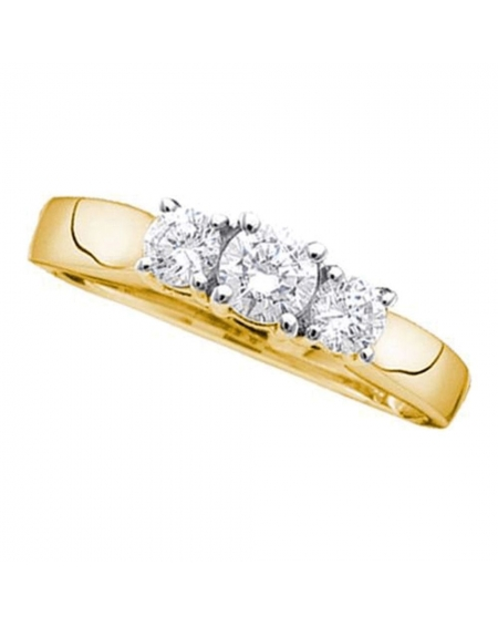 3-stone Diamond Engagement Ring in 14kt Yellow Gold (.75ct)