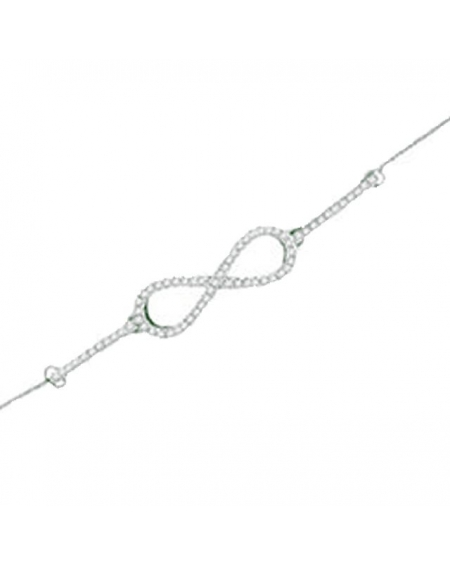 Diamond Infinity Bracelet in 10kt White Gold (.20ct)