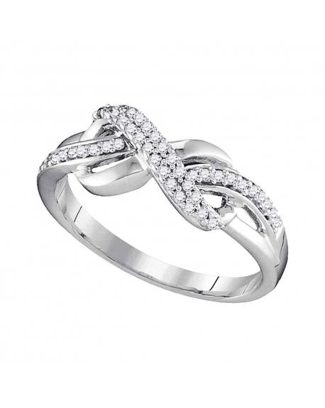 Diamond Infinity Ring in 10kt White Gold (.20ct)