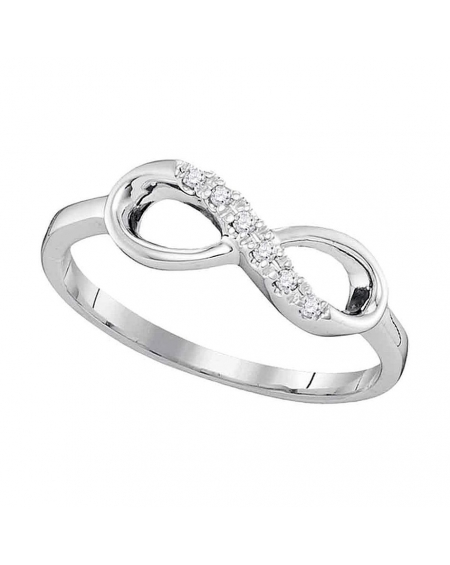 Diamond Infinity Ring in White Gold (.05ct)
