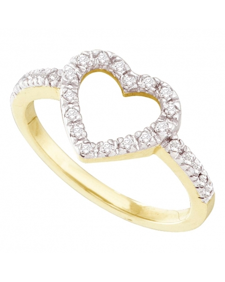 Diamond Simple Heart Ring in 10kt Yellow Gold (.20ct)