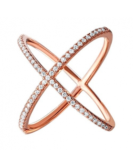 Sterling Silver X Crisscross CZ Ring