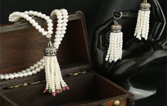 Silver Tassel Necklace & Earrings - Origin and Trends